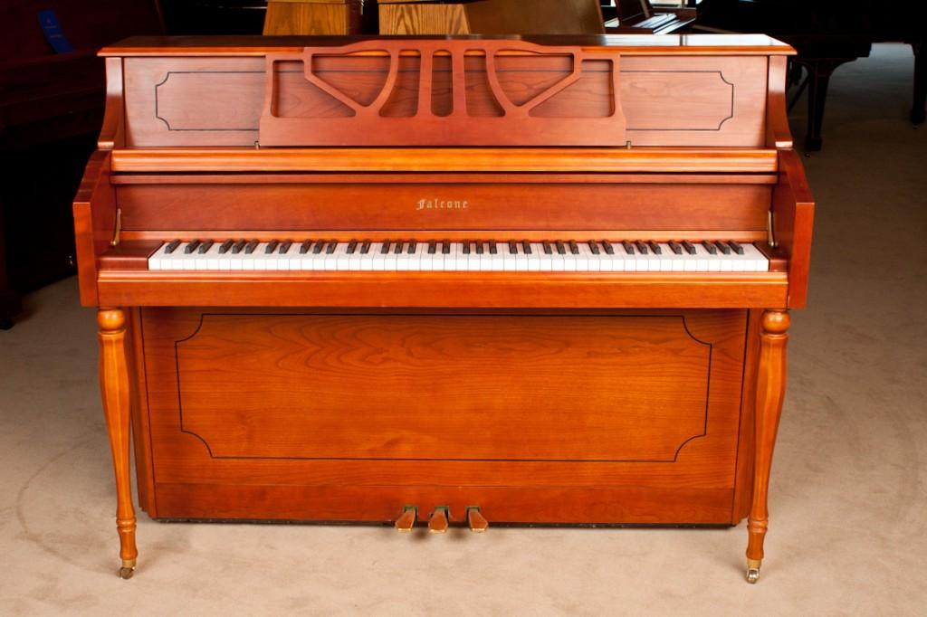 falcone cf 12 in cherry satin used piano showroom. Black Bedroom Furniture Sets. Home Design Ideas