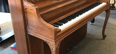 Steinway F-40 Louis XV Upright Piano in Walnut Satin